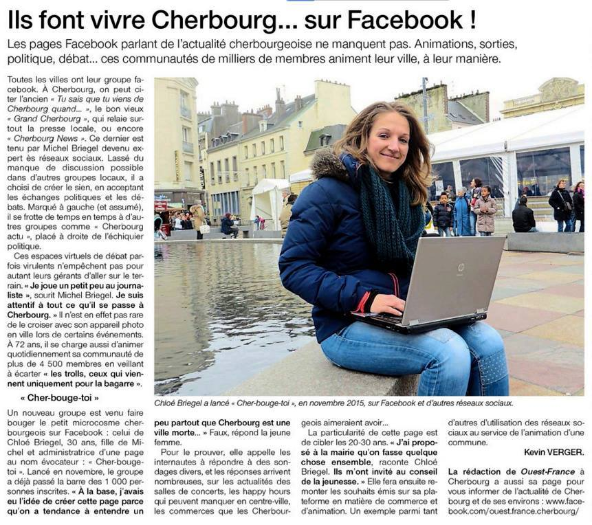 article ouest france cherbougetoi